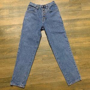 VTG 1990 Esprit Cotton Super H Rise Mom Jean 9 10